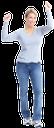 улыбка, успех, радость, руки вверх, девушка в джинсах, голубые джинсы