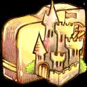 folder, castle