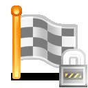 square flag lock 128