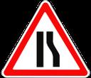 дорожный знак, предупреждающие знаки, сужение дороги, road sign, warning signs, road narrowing, verkehrszeichen, warnschilder, straße verengung, panneau routier, panneaux d'avertissement, route rétrécissement, señal de tráfico, señales de advertencia, estrechamientos de calzada, cartello stradale, segnali di pericolo, restringimento strada, sinal de estrada, sinais de aviso, estreitamento estrada