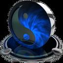 ying yang blue