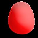 huevo, rojo, mate