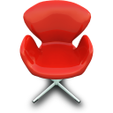 red chair, красный стул