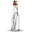 message bottle, by, artdesigner.lv