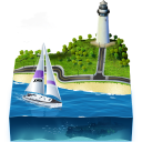 отдых, пляж, rest, relax, vacation, beach, маяк, lighthouse, яхта, река, river, beacon, yacht