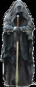 воин, древний воин, воин с мечом, меч, черный балахон, черный, рыцарь, двуручный меч, турнир, мистика, средневековый воин
