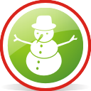 snowman, rounded