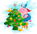 новый год, новогодняя ёлка, поросенок, рождество, год свиньи, розовый поросенок, зима, птица, new year, new year tree, christmas, year of the pig, pink pig, bird, neues jahr, baum des neuen jahres, piggy, weihnachten, jahr des schweins, rosa schwein, winter, nouvel an, arbre du nouvel an, cochon, noël, année du cochon, cochon rose, hiver, oiseau, año nuevo, árbol de año nuevo, alcancía, navidad, año del cerdo, cerdo rosado, invierno, pájaro, capodanno, albero di capodanno, porcellino, natale, anno del maiale, maiale rosa, uccello, ano novo, ano novo árvore, porquinho, natal, ano do porco, porco rosa, inverno, ave, новий рік, новорічна ялинка, порося, різдво, рік свині, рожевий порося, птах