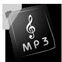 mp3, dark, white, 3
