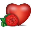 heart, and, rose