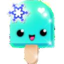 sparkles (14) turquoise snowflake
