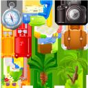 путешествие, чемодан, кошелек, пальма, авиабилет, компас, фотоаппарат, кокос, коктейль, отпуск, туризм, travel, suitcase, compass, palm, purse, air ticket, camera, coconut, vacation, tourism, reise, koffer, kompass, palme, geldbörse, flugticket, kamera, kokosnuss, urlaub, tourismus, voyage, valise, boussole, paume, sac à main, billet d'avion, appareil photo, noix de coco, vacances, tourisme, viaje, maleta, brújula, bolso, boleto aéreo, cámara, cóctel, vacaciones, viaggio, valigia, bussola, palma, borsellino, biglietto aereo, macchina fotografica, cocco, cocktail, vacanza, viagem, mala, bússola, palmeira, bolsa, passagem aérea, câmera, coco, coquetel, férias, turismo, подорож, гаманець, авіаквиток, фотоапарат, відпустка