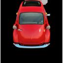 red little car, маленькая красная машина