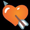 emoji, u1f498