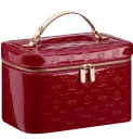 red lv cosmetic case