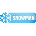 snowman, button