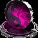 ying yang pink