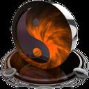 ying yang orange
