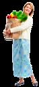 домохозяйка, покупки, продукты питания, розовый, супермаркет, пакет с продуктами, женщина, магазин, продукты, шопинг