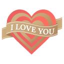i love you heart icon