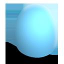 huevo, azul, mate