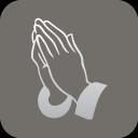 christianity praying hand symbol icon