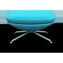 sky blue seat