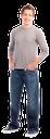 молодой человек, юноша, мужчина в джинсах, парень, парень в джинсах, джинсы цвета индиго