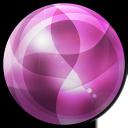 pink round design icon
