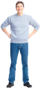 мужчина, голубые джинсы
