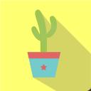 иконка кактус, иконка вазон, флэт иконки, cactus icon, flowerpot icon, flat icons, іконка кактус, іконка вазон, флет іконки