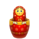 red, matreshka, inside
