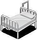 hospital, bed, 128, hot
