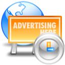 web advertising clock 128