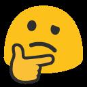 emoji, u1f914
