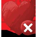 red, heart, delete, favorite, избранное, сердце