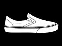 vans slip on temlplate left