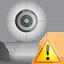 webcam, warning