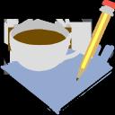 break, coffee, pencil