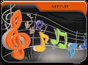 folder music notes, папка музыка, ноты