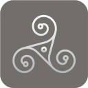 paganism triskeln icon