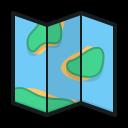 folded map, map, route, topography, сложенная карта, карта, маршрут, топография