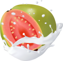 фрукты в молоке, фруктовый йогурт, брызги молока, fruit in milk, fruit yogurt, spray of milk, früchte in milch, fruchtjoghurt, milchspray, guave, fruits au lait, yaourt aux fruits, spray de lait, goyave, fruta en leche, yogurt de fruta, spray de leche, guayaba, frutta nel latte, yogurt alla frutta, spruzzi di latte, guava, фрукти в молоці, фруктовий йогурт, бризки молока, гуава