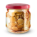 money jar, coins, by, artdesigner.lv