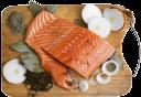 красная рыба, филе красной рыбы, семга, репчатый лук, лавровый лист, специи, деревянная разделочная доска, морепродукты, red fish, red fish fillets, salmon, onion, bay leaf, spices, wooden cutting board, seafood, roter fisch, rot fischfilets, lachs, zwiebel, lorbeerblatt, gewürze, holzbrett, meeresfrüchte, poisson rouge, filets de poisson rouge, le saumon, l'oignon, la feuille de laurier, épices, planche à découper en bois, fruits de mer, pez rojo, rojo filetes de pescado, salmón, cebolla, laurel, especias, tabla para cortar madera, mariscos, pesci rossi, filetti di pesce rosso, salmone, cipolla, alloro, le spezie, tagliere di legno, frutti di mare, peixe vermelho, filetes de peixe vermelho, salmão, cebola, louro, especiarias, tábua de madeira, frutos do mar