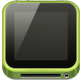media player apple ipod  green