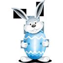 bunny, egg, blue