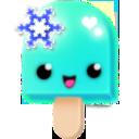 (14) turquoise snowflake