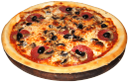 пицца с сыром салями и грибами, pizza with salami, cheese and mushrooms, pizza mit salami, käse und pilzen, pizza avec salami, fromage et champignons, pizza de salami, queso y setas, pizza con salame, formaggio e funghi, pizza com salame, queijo e cogumelos