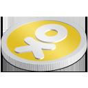 s icons, social media icons, coin, set, 512x512, 0030, odnoklassniki